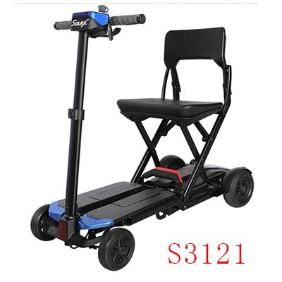 舒莱适S3121老年电动代步车遥控折叠便携式老人残疾人锂电四轮助力车
